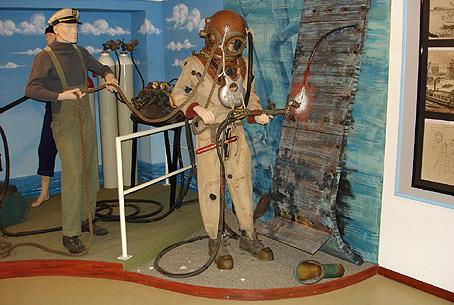 Le Musée National des Activités Subaquatiques de Ravenne, Italie.