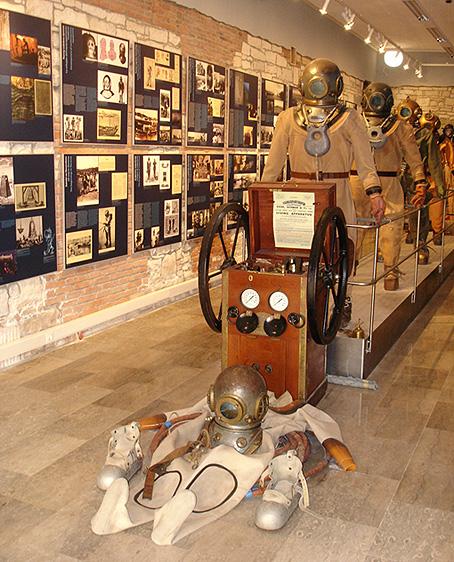 Le Musée des Activités Subaquatiques de Piran, Slovénie.