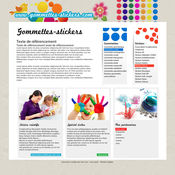 GOMMETTES AUTOCOLLANTES & GOMMETTES LOISIRS CREATIFS